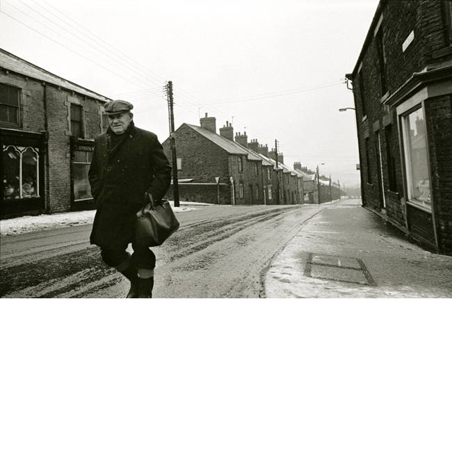 Man in Snow Sunderland 1977