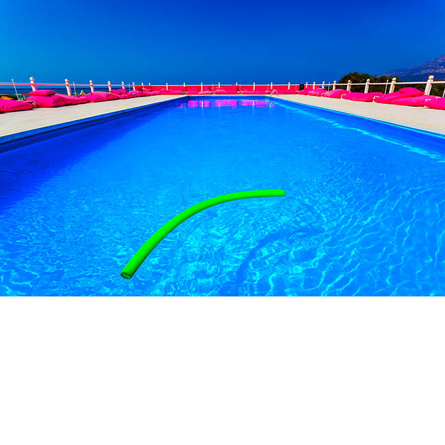 Pool with Pink Cushions